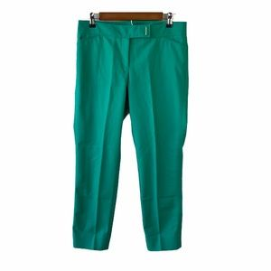 WHBM Green Perfect Form Slim Ankle Pants Size 6R